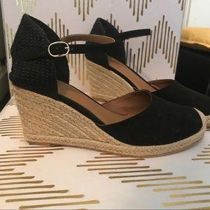 H&M espadrille black wedge
